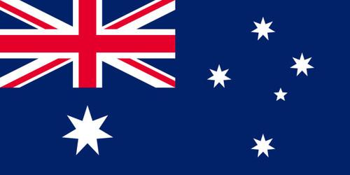 Australian Flag - 500mm x 250mm