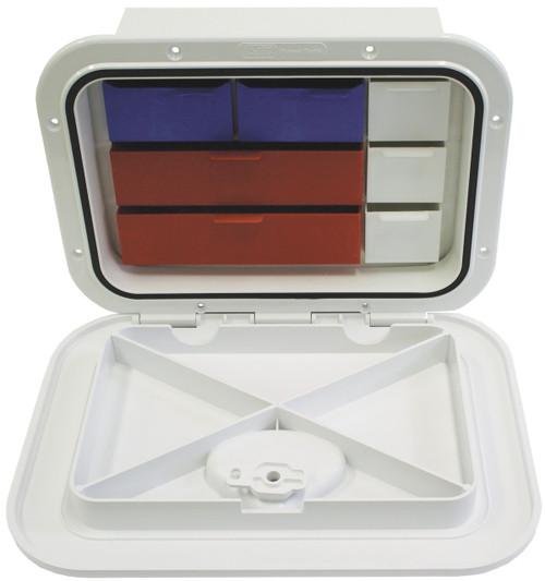 Nuova Rade Hatch -Deluxe Tackle Box Wht