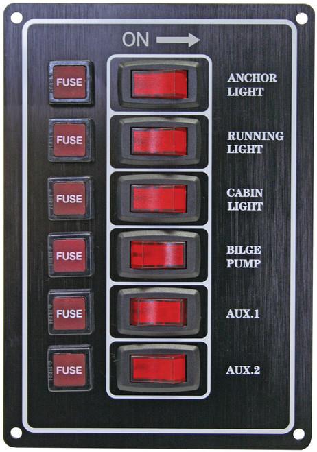 Switch Panel -Black 6 Sw
