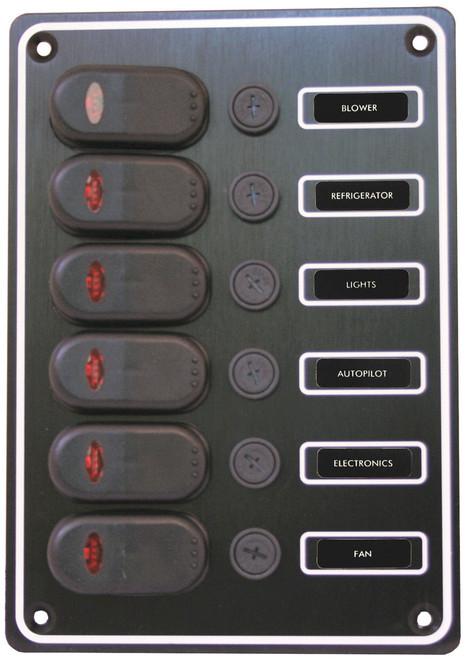 Switch Panel 6 Gang