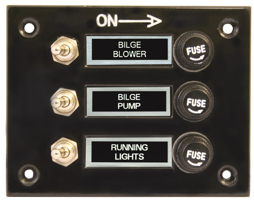 Switch Panel Blk 3 Switch