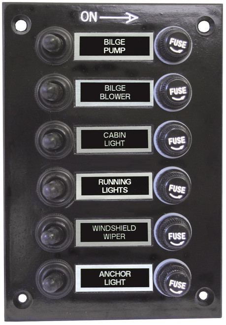 Switch Panel W/Boots 6 Sw