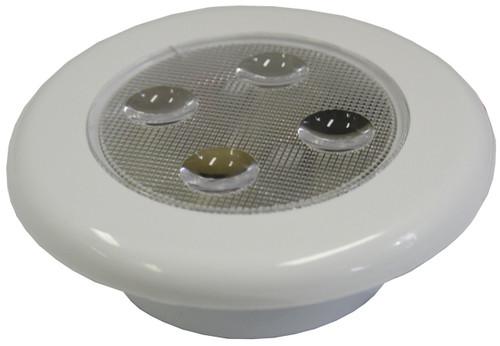 Light Flush Wht(4xLED)12v