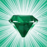 Graphic from bottle label: Illustration of an Emerald Divine Gem stone