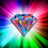 Graphic from bottle label: Illustration of a Mystic Fire Topaz Divine Gem