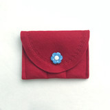 Patriotic Red with blue button