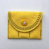 Yellow with yellow flower button