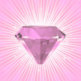 Graphic from bottle label: Illustration of Rose Quartz Divine Gem