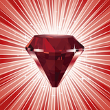 Graphic from bottle label: Illustration of Garnet Divine Gem