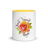 Front view of Watch Yourself Bloom mug