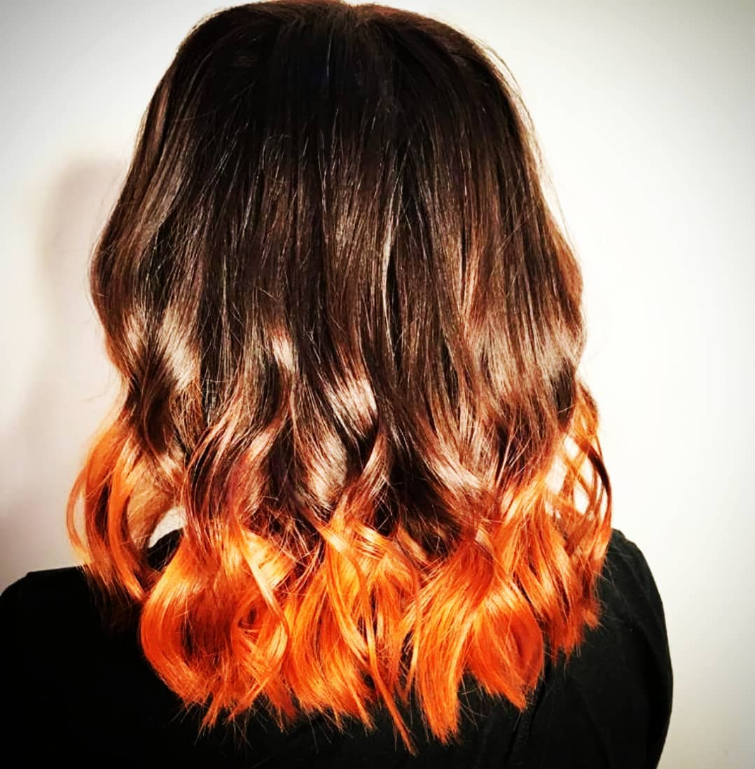 Bright Copper Ombre lob by Skye