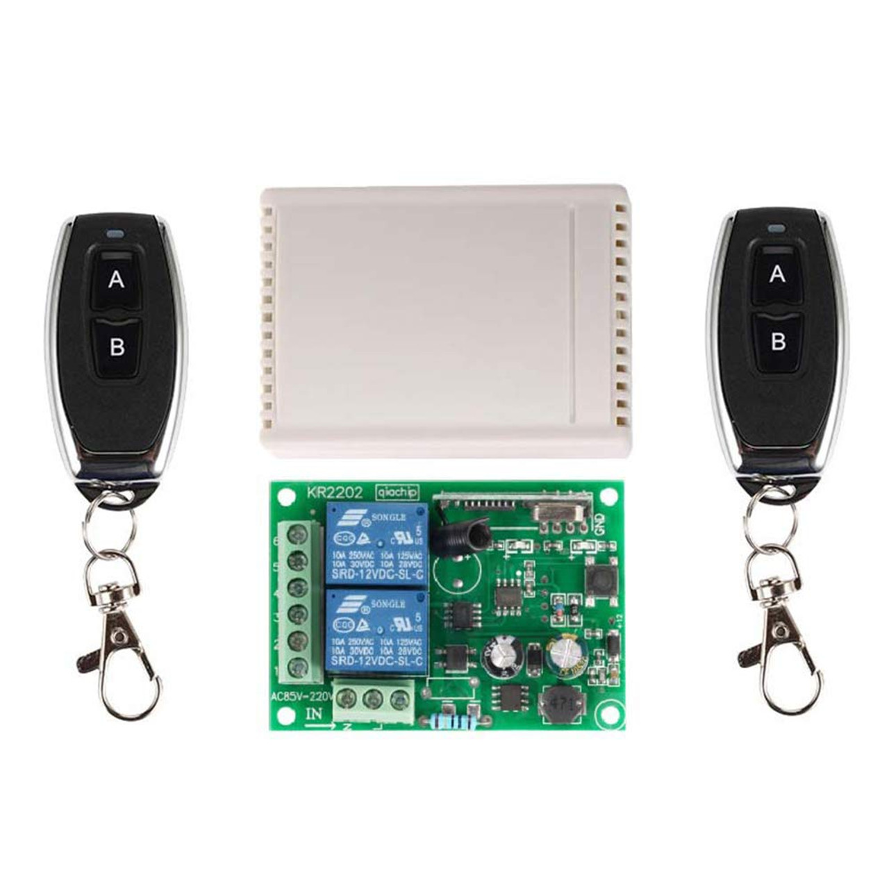 Receiver Module 12V 1-Channel 433M 1-Button 15-1000m Remote Control Switch