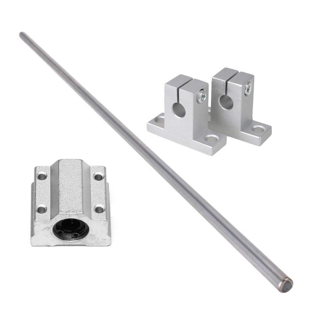 SCS8UU Bearing Blocks For SK8 3D Printer 2 Set 8mm 400mm Linear Shaft Rod Rail