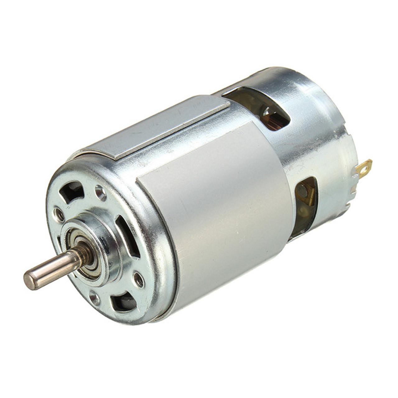 775-DC 12V-24V 15600RPM circular shaft motor