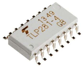 TLP281-4  AC/DC Input, Output Quad Optocoupler SMD
