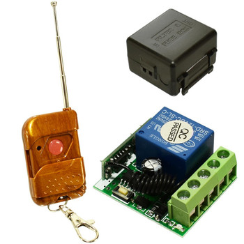 12V Signal Channel Fixed Encoding Switch + Wireless Remote