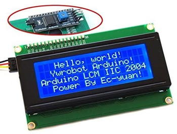 LCD 20X4 (2004) Serial Backlight with IIC