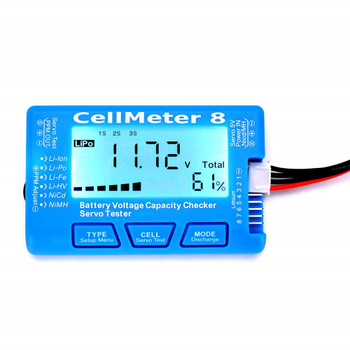 LCD Digital Battery Capacity Checker CellMeter 1-8S