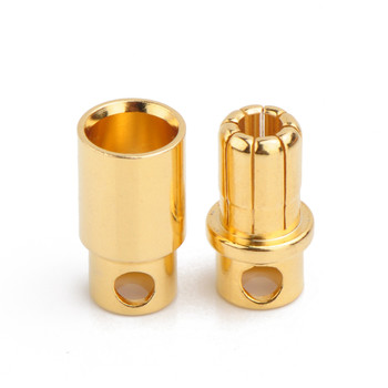 Gold Plated Bullet Connector Male-Female Pair