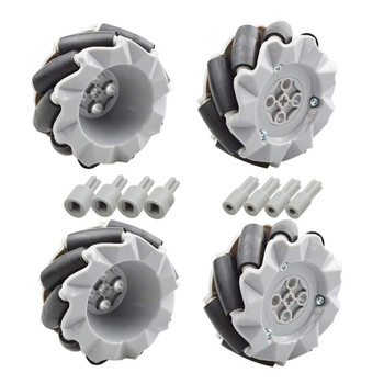 Mecanum Wheel Kit (80mm - 4 Wheels)