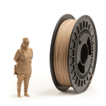 1.75mm 1Kg Wood ABS Filament
