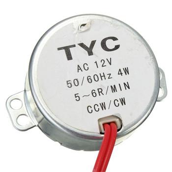 TYC-50 AC12V 50/60Hz Synchronous Motor 5/6RPM CW/CCW