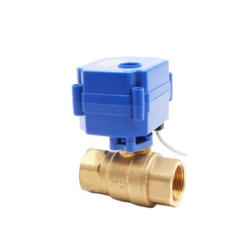 "1/2"" DN15 Brass Motorized Ball Valve - 12V"