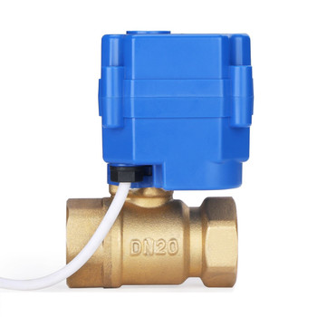 "3/4"" DN20 Brass Motorized Ball Valve - 12V"