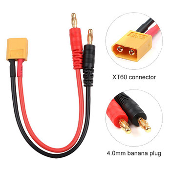 Male XT60 to 4.0mm Banana Plug