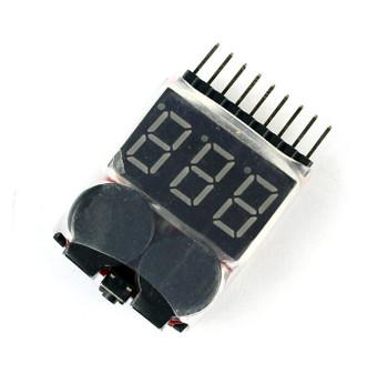 1-8s Lipo Digital Battery Voltage Tester
