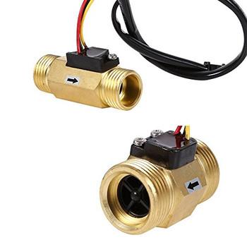 """YF-B6 BSP G3/4"""" Flow meter with Temperature Probe"""