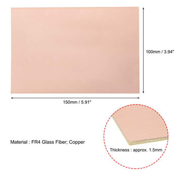Copper Clad Board Double Sided 15 x 20cm x 1.6mm