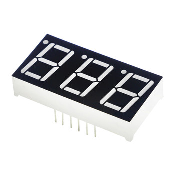 7-Segment Display - 3 Digit (Red)