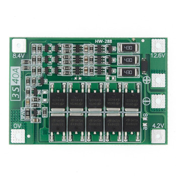 18650 BMS Board 3S 40A Balanced 12.6V