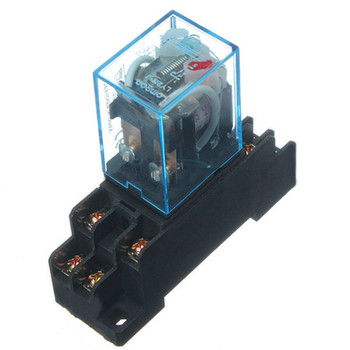 PTF08A relay socket + Omron relay LY2NJ 10A 24V