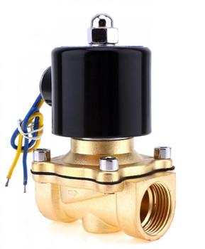 """Brass Liquid Solenoid Valve - 12V - 3/4"""""""