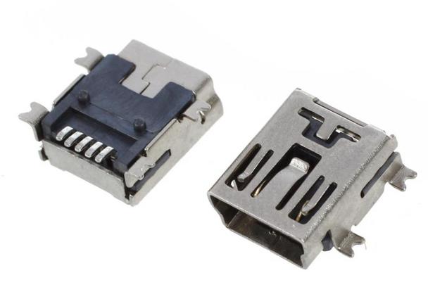 Mini USB SMD 5 Pin Female Mini B Socket