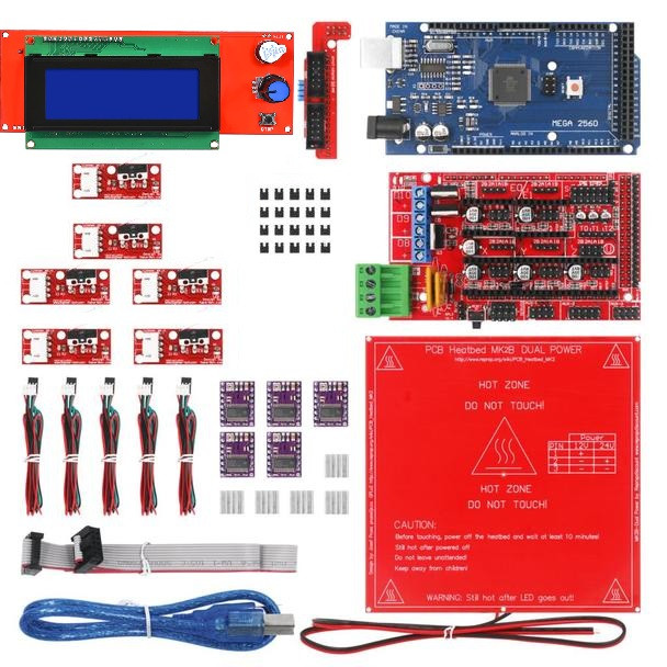 3D Printer Kit (RAMPS 1.4+2004 LCD+PCB Heat Bed MK2B)