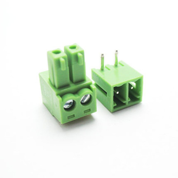 2PIN Right Angle Plug-in Terminal