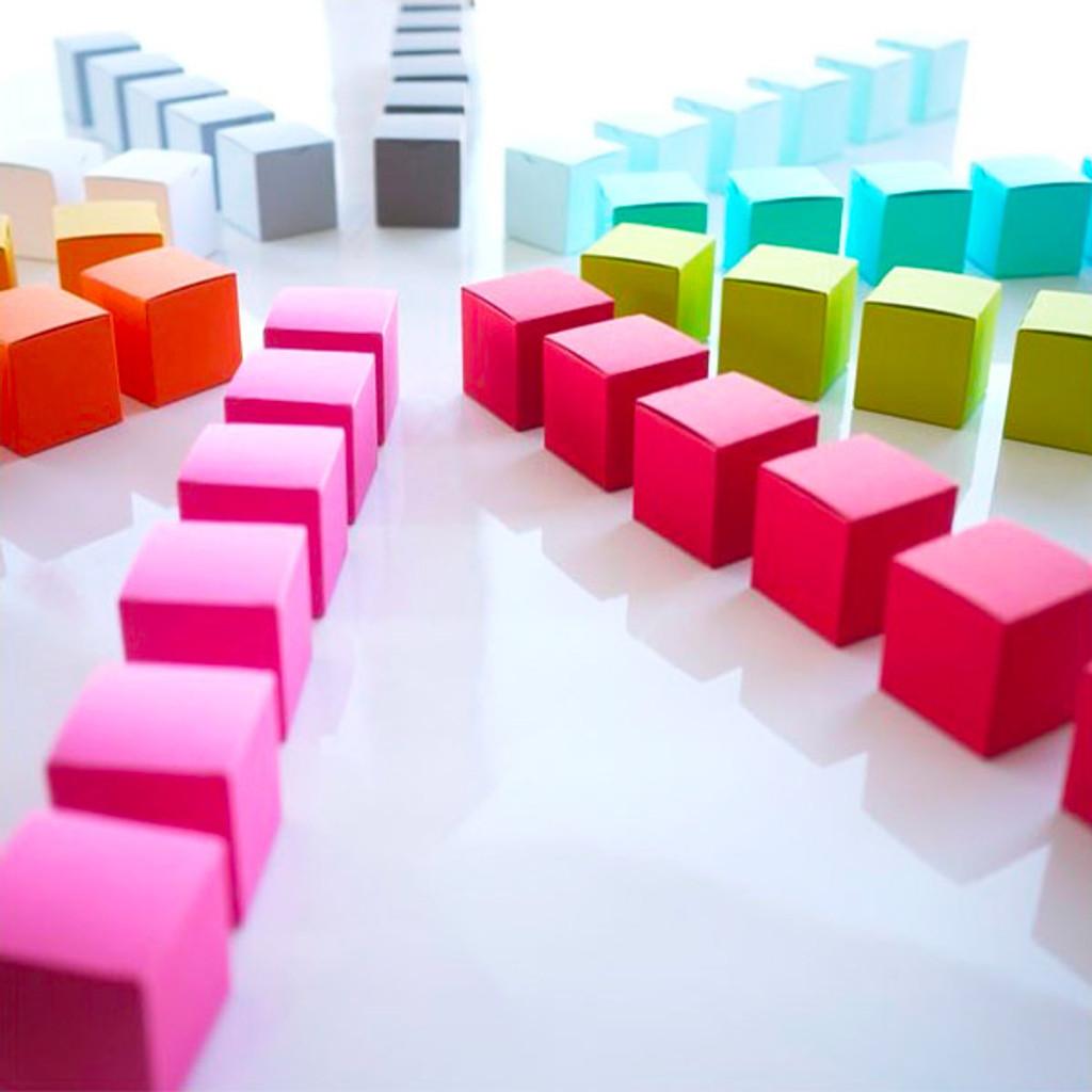 Boîtes à dragées Cube dans plus de 30 couleurs