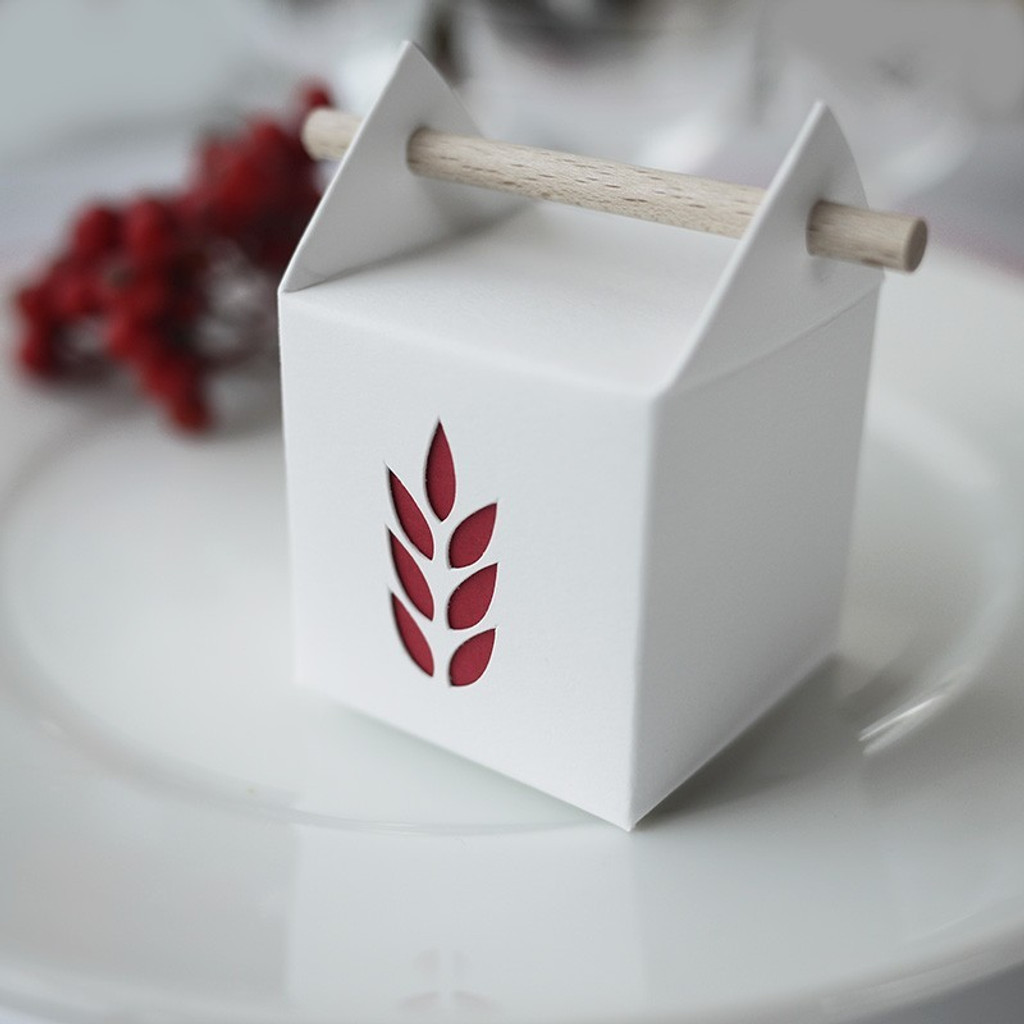 Boîte à dragées tourillon épi de blé