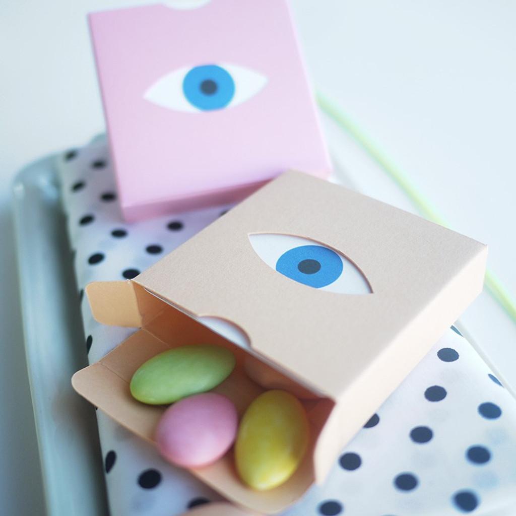Boîte dragées Clin d'oeil pop