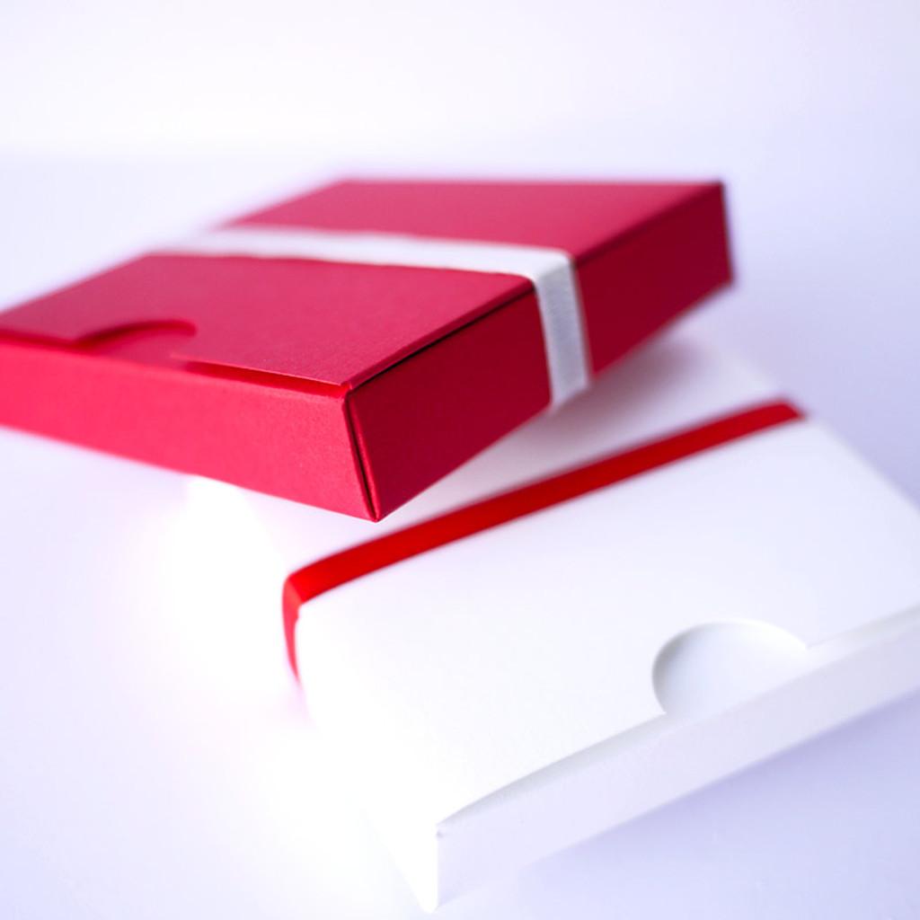 Contenant à dragées carré japonais blanc
