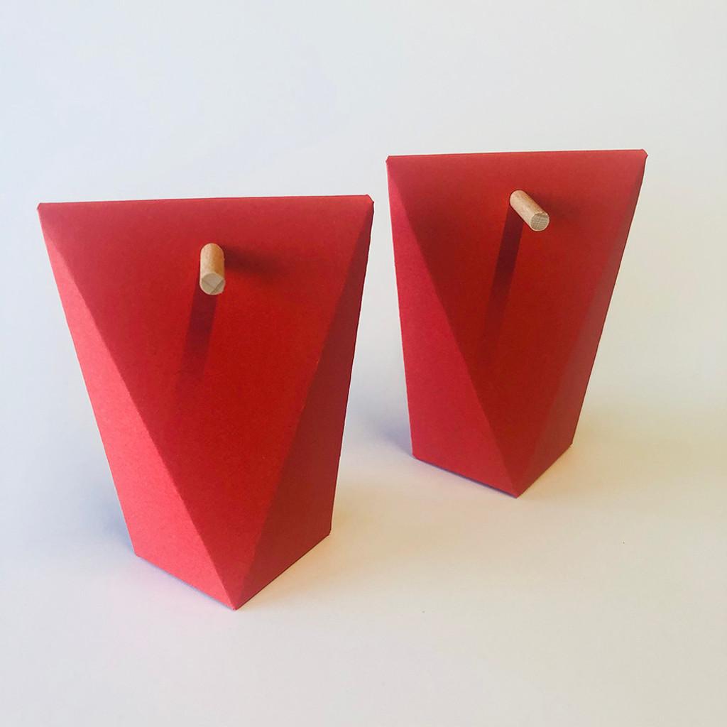 Boîte à dragées grand angle rouge