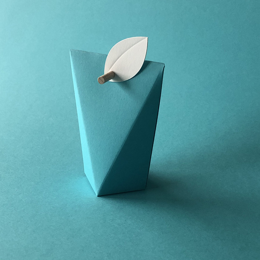 Boîte à dragées Grand Angle en bleu turquoise