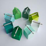 7 couleurs vertes pour nos boites et contenants à dragées