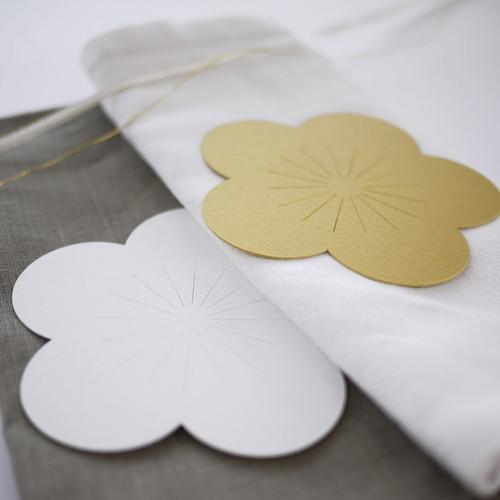 Déco de table, Fleur de prunier