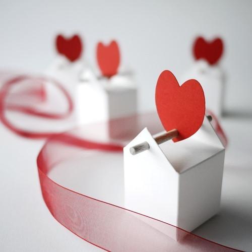 Contenant à dragées thème coeur