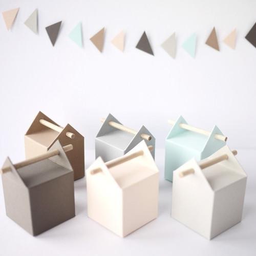 Kit de l'arlequin, 10 boites à dragées pastel