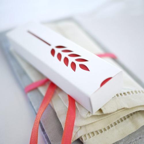 Boîte Epi blanche : contenant à dragées
